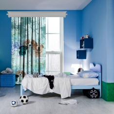 Lovely Dogs 1 Piece Curtain