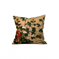 Japanese Birds and Flowers Cushion 1