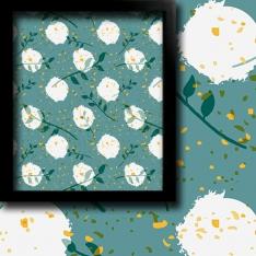 2 Color Camomile Collage 1