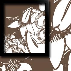 Kahverengi Çiçek Motifleri 2