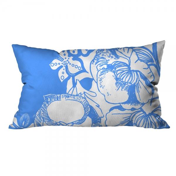 Mavi Çiçek Motifleri 4