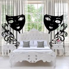 White-White Tulle Curtain 2 Pieces