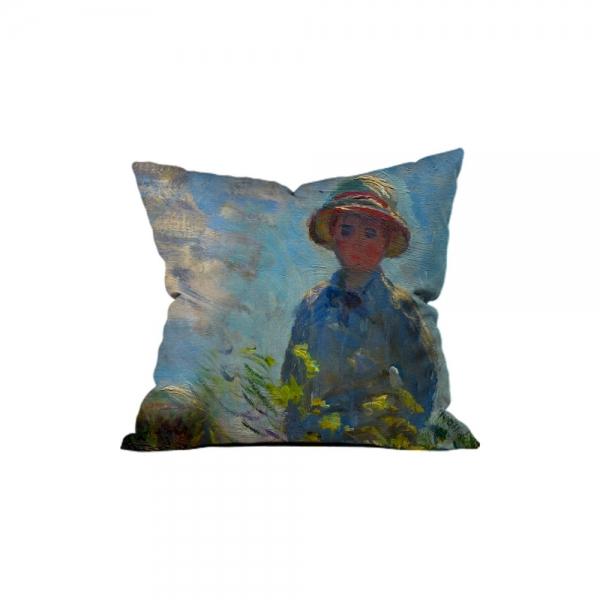 Claude Monet - Güneş Şemsiyeli Kadın 1