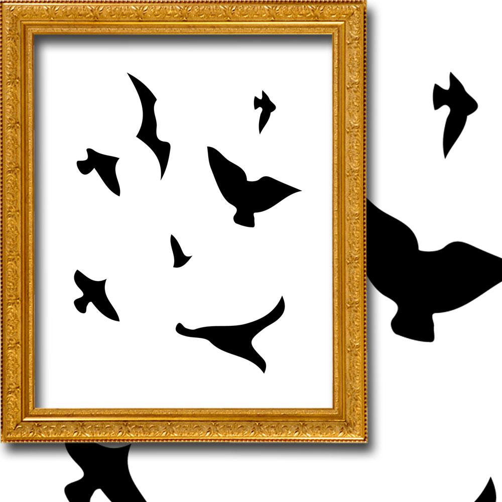 özgür Kuşlar Tül Perde Tek Kanat