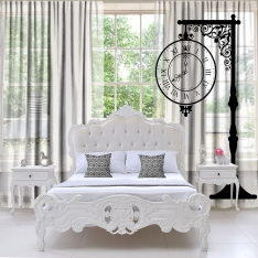 Street Clock Tulle Curtain Single Piece