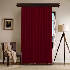 Claret Red Panel Curtain