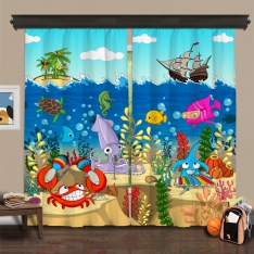 Cipcici Theatre Underwater Orchestra 2 Panel Curtain