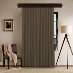 Milky Brown Panel Curtain