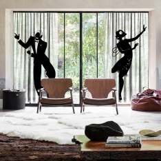 Magical Dance 2 pieces Tulle Curtain Set