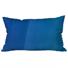 Bordered Pattern Blue Cushion 2