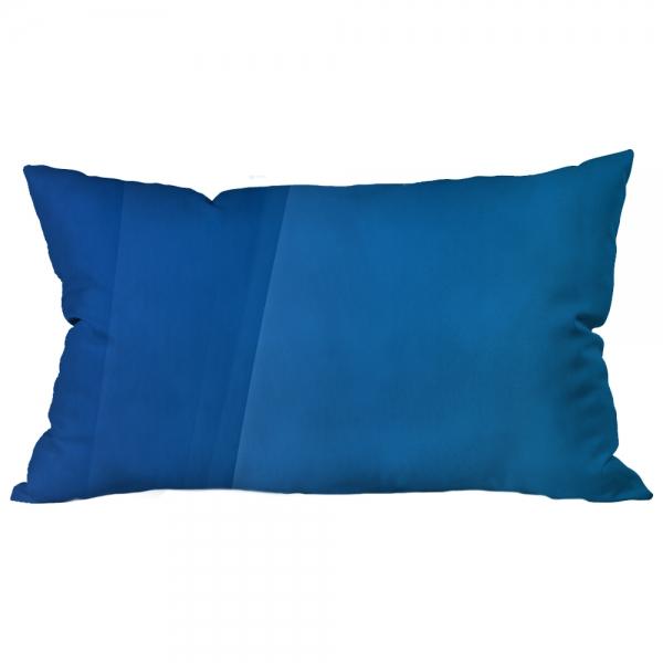 Bordürlü Desenli Mavi Kırlent 2