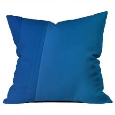 Bordered Pattern Blue Cushion