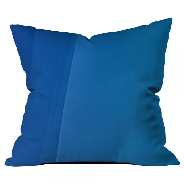 Bordürlü Desenli Mavi Kırlent