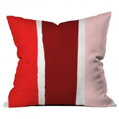 Scattered Lines Bordeaux-Pink-Red Cushion 2