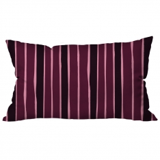 Scattered Lines Claret red - Black Cushion 2