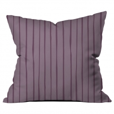 Scattered Lines Lavender Cushion