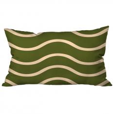 Wavy Green Cushion 2