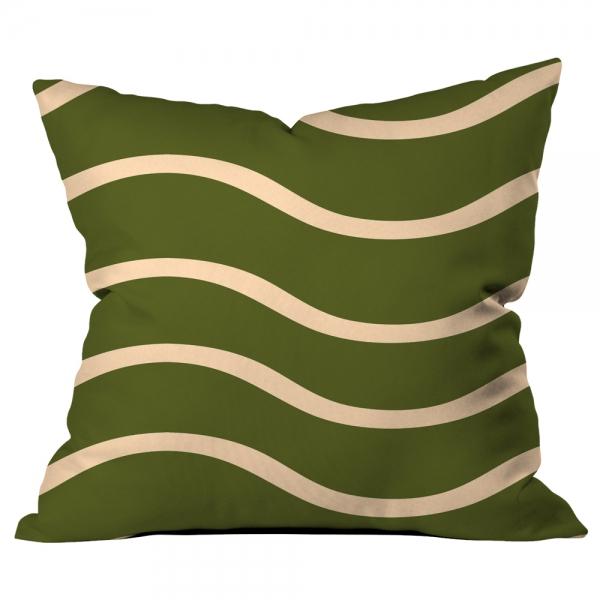 Dalgalı Yeşil Kırlent