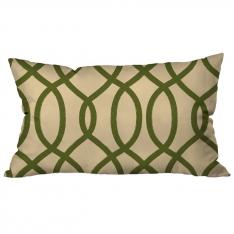 Ring Pattern Creme-Green Cushion 2