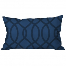 Ring Pattern Blue-Black Cushion 2