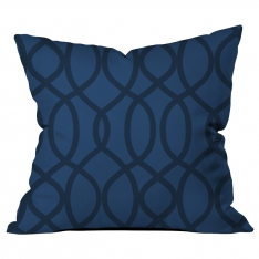 Ring Pattern Blue-Black Cushion