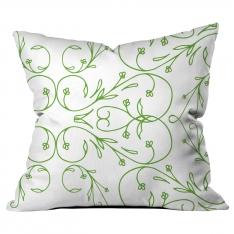 Thin Wrought Iron-Thick Border Green Cushion