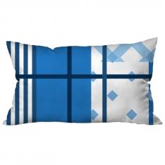 Mavi Beyaz Çizgili Kolaj Kırlent 2