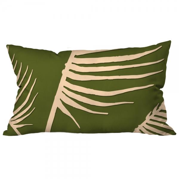 Palmiye Yapraklı Yeşil Kırlent 2