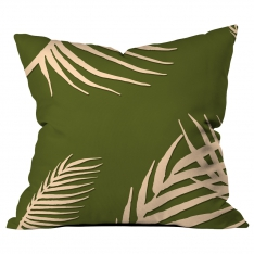 Palm Trees with Green Leaf Cushion