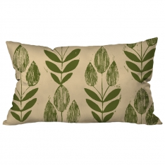 Yaprak Tohum Krem-Yeşil Kırlent 2