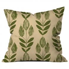 Yaprak Tohum Krem-Yeşil Kırlent