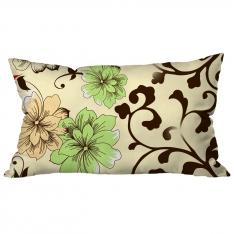 Yeşil-Krem Çiçekli Kahve Dallı Kırlent 3