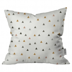 Scattered Colored Triangles Cushion By 2 By İmren Gürsoy
