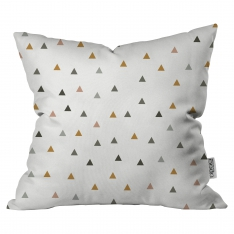 Scattered Colored Triangles Cushion By  By İmren Gürsoy