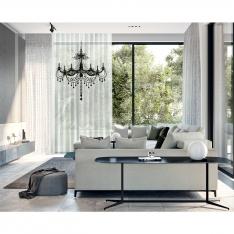 Magnificent Chandelier Single Piece Tulle Curtain Set