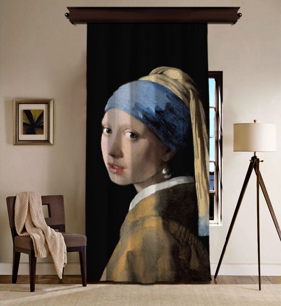 Johannes Vermeer - İnci Küpeli Kız BlackOut Perde