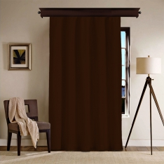 Dark Brown Blackout Curtain