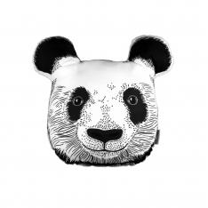 Panda Face Trinket Pillow By İmren Gürsoy