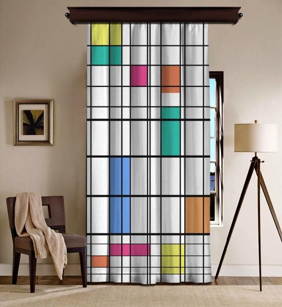 Piet Mondrian - Renk ve Çizgi BlackOut Perde