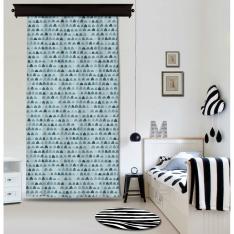 Soft Figured Blue Curtain By İmren Gürsoy
