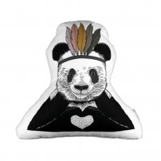 Tüylü Panda Biblo Yastık By İmren Gürsoy