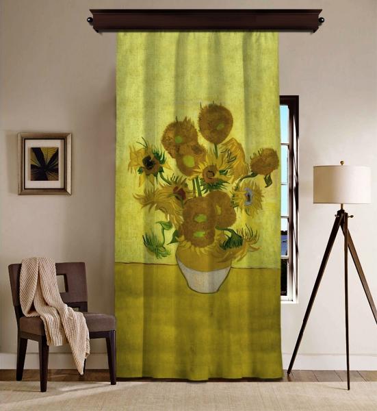 Vincent Van Gogh - Ayçiçekleri BlackOut Perde