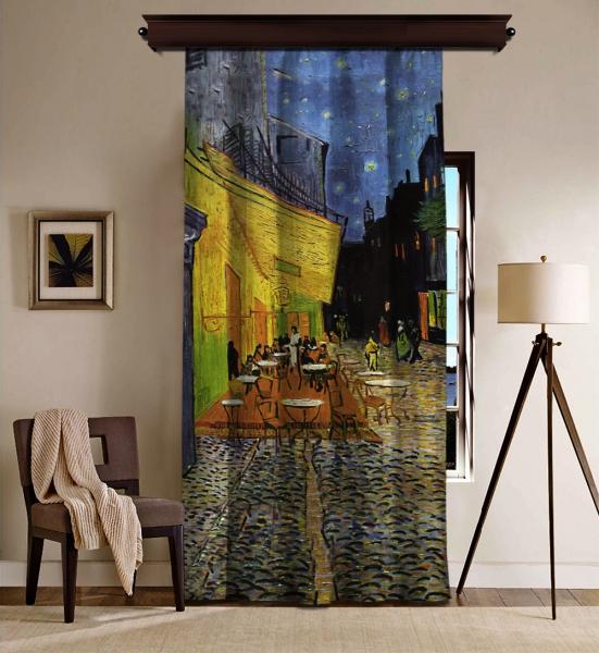 Vincent Van Gogh - Teras Kafe BlackOut Perde