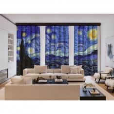 Vincent Van Gogh - Yıldızlı Gece 3 Kanat BlackOut Perde