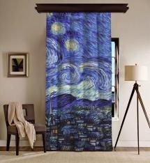 Vincent Van Gogh - Yıldızlı Gece Panel 2 BlackOut Perde