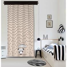 Rainy Panda Powder Panel Curtain By İmren Gürsoy