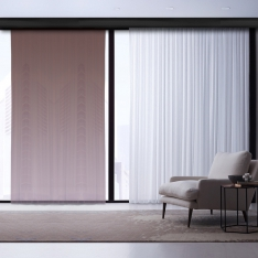 White-Claret Red Degrade Tulle Curtain | Interstellar Combine