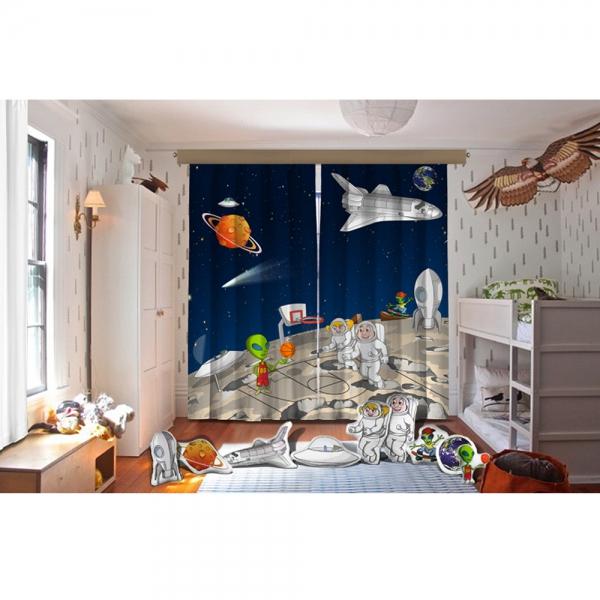 Cipcici Tiyatrosu Uzaylı Kankalar Fon Perde + Biblo Yastıklar Set
