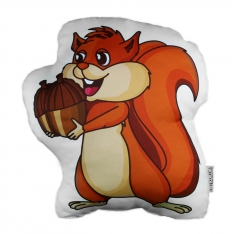 Male Squirrel Trinket Pillow - Forest Family
