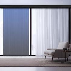 Gray-Light Blue Degrade Tulle Curtain | Interstellar Combine